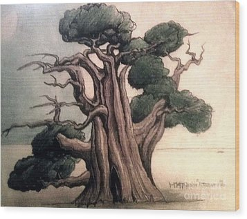 Tree Wood Print by Justin Moranville