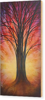 'tree Of Life' Wood Print by Michael Lang