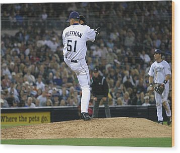 Wood Print featuring the photograph Trevor Hoffman by Don Olea