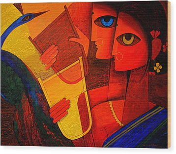 Tribal Women Wood Print by Jiaur Rahman