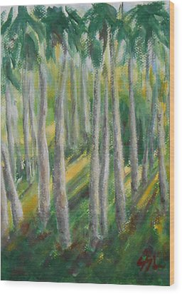 Tropical Wood Print by Jane  See