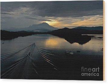 Tuaran River  Wood Print