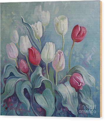Tulips Wood Print by Elena Oleniuc