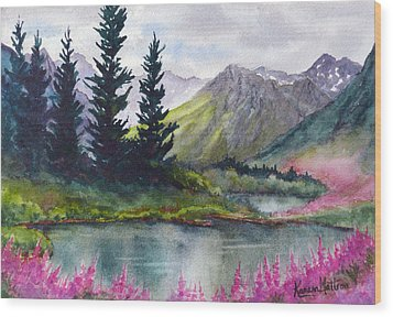 Turnagain Pass Fireweed Wood Print