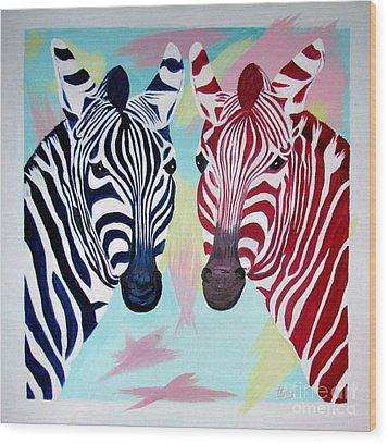 Twin Zs Wood Print by Phyllis Kaltenbach