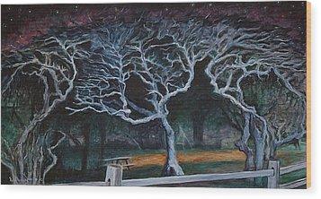 Twisted Night Wood Print