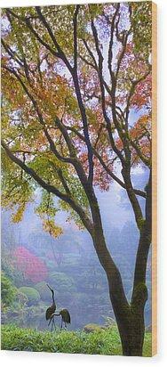 Two Heron  Wood Print