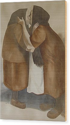Two Old Friends Wood Print by Sarah Buell  Dowling