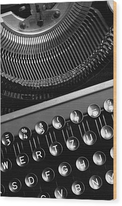 Typewriter Wood Print by Falko Follert
