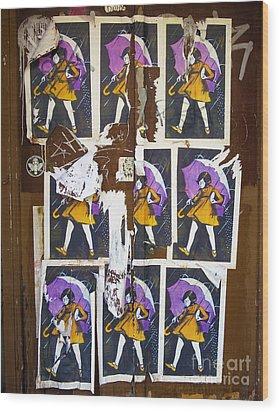 Umbrella Girl Wood Print by Patricia Januszkiewicz