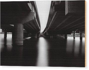Under The Bridges Wood Print