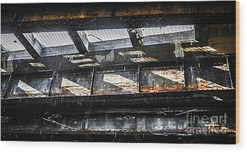 Under The Street Wood Print by Diane Diederich
