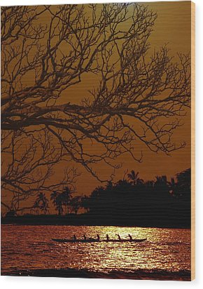 Under The Sunset Wood Print by Athala Carole Bruckner
