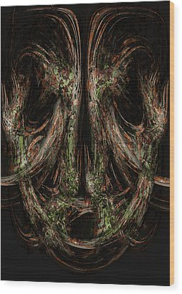 Unforgiveness Wood Print by Christopher Gaston