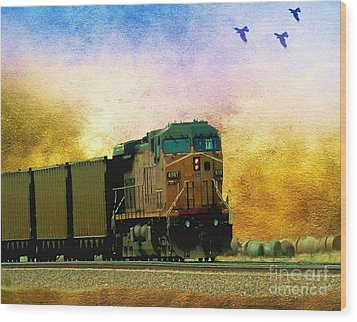 Union Pacific Coal Train Wood Print