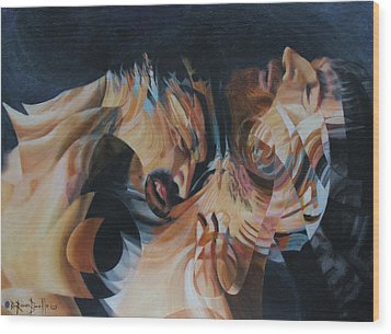 Wood Print featuring the painting Unrequited by Ron Richard Baviello