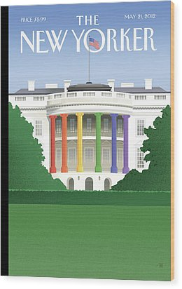 New Yorker May 21st, 2012 Wood Print by Bob Staake