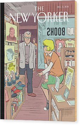 New Yorker December 5th, 2011 Wood Print by Dan Clowes