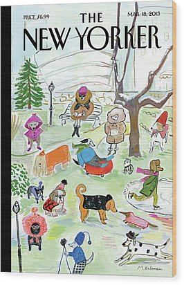 New Yorker March 18th, 2013 Wood Print by Maira Kalman
