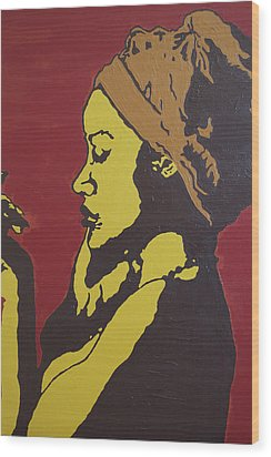 Wood Print featuring the painting Untitled by Rachel Natalie Rawlins