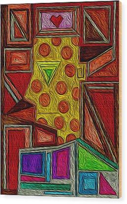 Untold Love Wood Print by Maricar Edano Casaclang