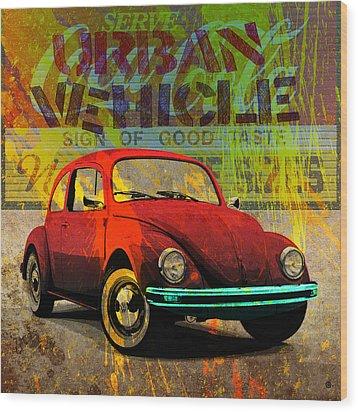 Urban Vehicle Wood Print by Gary Grayson