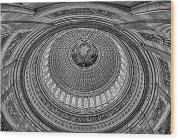Us Capitol Rotunda Wood Print by Susan Candelario