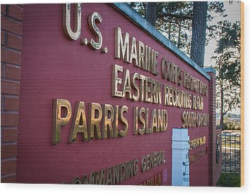 Marine Recruit Depot Wood Print
