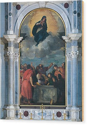 Vecellio Tiziano Known As Titian Wood Print by Everett