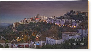 Vejer De La Frontera Panorama Cadiz Spain Wood Print