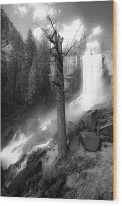 Vernal Waterfall Wood Print