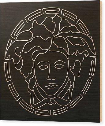 Versace Medusa Head Wood Print by Peter Virgancz