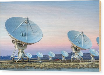 Very Large Array Of Radio Telescopes  Wood Print by Bob Christopher