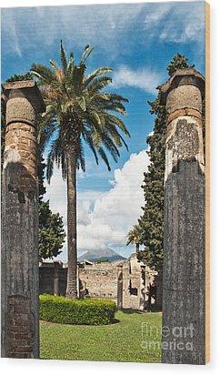 Vesuvius Wood Print by Marion Galt