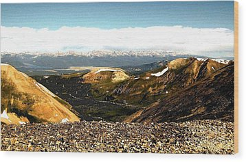 View From The Top Wood Print by Claudette Bujold-Poirier