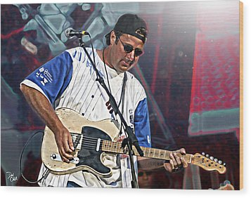 Vince Gill Wood Print by Don Olea