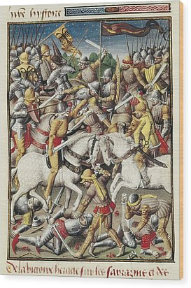 Vincent Of Beauvais 1190-1264. Speculum Wood Print by Everett