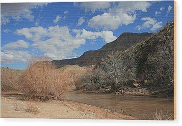 Virgin River Arizona Wood Print