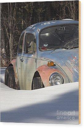 Volkswagen Beetle Wood Print by Jennifer Kimberly