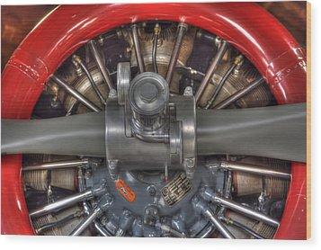 Vultee Bt-13 Valiant Propeller Wood Print