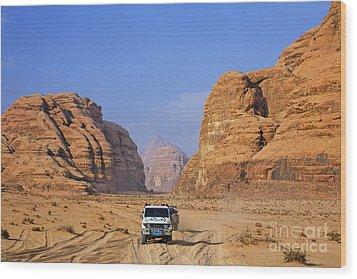 Wadi Rum In Jordan Wood Print by Robert Preston