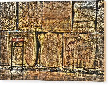 Wood Print featuring the photograph Wailing Wall by Doc Braham