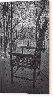 Waiting For Spring Wood Print by Wayne Meyer
