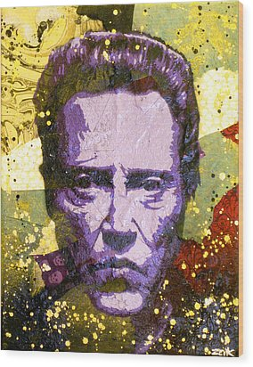 Walken My Ass Off Wood Print by Bobby Zeik