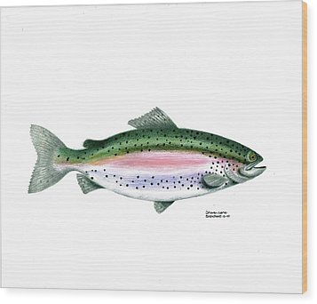 Wallace Brantley Sport Fishing Series Rainbow Trout Wood Print by Sharon Blanchard