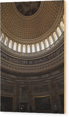 Washington Dc - Us Capitol - 011310 Wood Print by DC Photographer