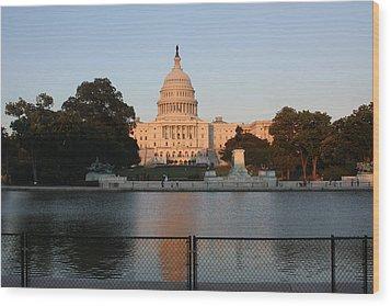 Washington Dc - Us Capitol - 011311 Wood Print by DC Photographer