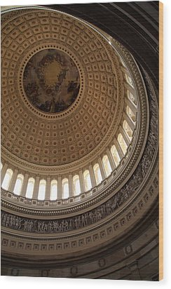 Washington Dc - Us Capitol - 011313 Wood Print by DC Photographer