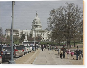 Washington Dc - Us Capitol - 01133 Wood Print by DC Photographer