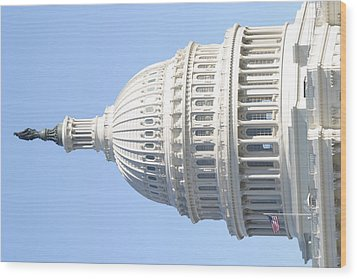 Washington Dc - Us Capitol - 01139 Wood Print by DC Photographer